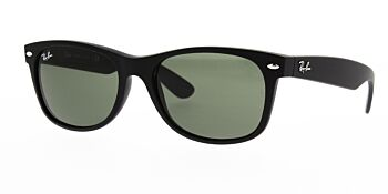 Ray Ban Sunglasses New Wayfarer Black Rubber RB2132 622 58