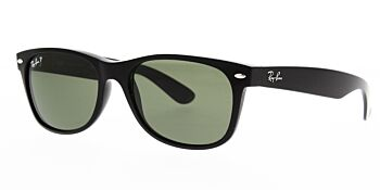 Ray Ban Sunglasses New Wayfarer Black RB2132 901 58 Polarised 52mm