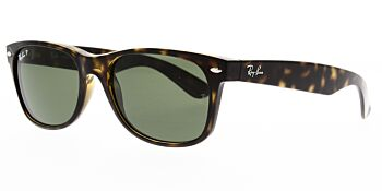 Ray Ban Sunglasses New Wayfarer Tortoise RB2132 902 58 Polarised 58
