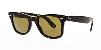 Ray Ban Sunglasses Wayfarer Tortoise RB2140 902 57 Polarised 50