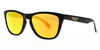 Oakley Sunglasses Frogskins Valentino Rossi Polished Black Fire Iridium OO9013 24-325