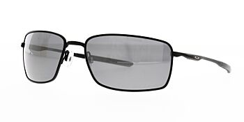 Oakley Sunglasses Square Wire Matte Black/Black Iridium OO4075-05 Polarised 60