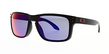 Oakley Sunglasses Holbrook Matte Black/+Red Iridium OO9102-36