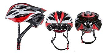 Dirty Dog Cycle Helmet Cruise Red Black White L-XL 47030