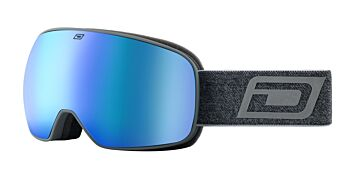 Dirty Dog Eyewear Goggles Streif Matte Grey Frame Blue Fusion Mirror 54249