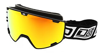 Dirty Dog Goggles Avalanche Matte Black Red Fusion Mirror DD54215