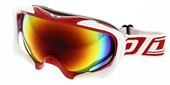 Dirty Dog Ski Goggle Out Rigger White Red Fusion Mirror DD54115