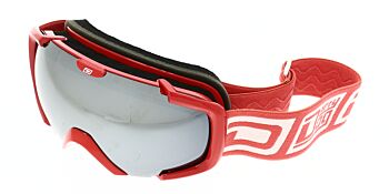Dirty Dog Ski Goggle Stampede Red White Silver Mirror DD54160