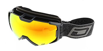 Dirty Dog Ski Goggles Velocity Grey Red Fusion Mirror DD54228