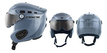 Dirty Dog Snow Helmets Apache Dark Silver Medium 46171