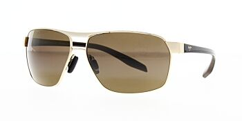Maui Jim Sunglasses The Bird Gold With Black And Brown HCL Bronze Polarised H835-16