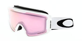 Oakley Goggles Line Miner XM Matte White Prizm High Intensity Pink OO7093-1100